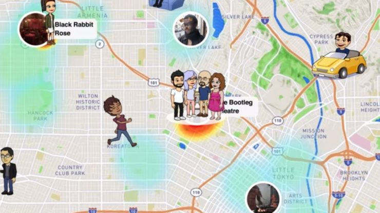 how to add location and temperature on snapchat