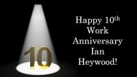 Ian Heywood celebrates 10 years at Aspect IT!