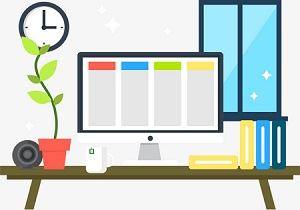 clean-desk-work-productivity