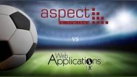 Aspect IT vs Web Apps UK in a charity football match!