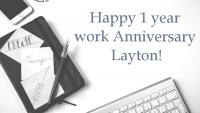 Happy 1 year anniversary to our Network Technician Layton!
