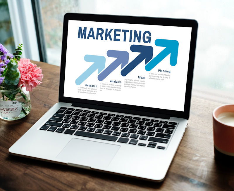 marketing paid laptop marketingonscreen